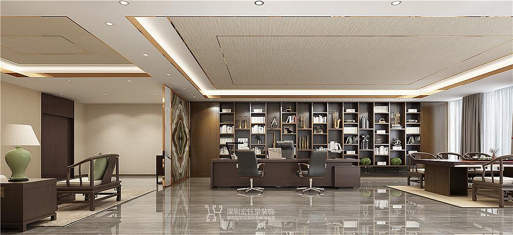 郑州中式董事长办公室装修效果图|宏钰堂办公装修设计