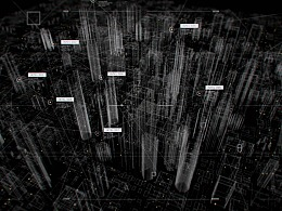 智慧城市数据可视化指挥中心展示(放大图展示)