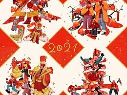 《恭喜发财》-CNY新年主题插画品牌包装设计