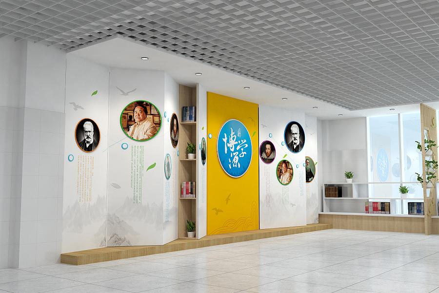 校园大厅形象墙图片