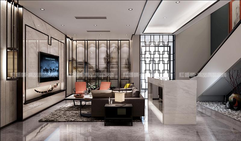 红蚂蚁装饰新中式风格效果图|室内设计|空间/建筑|红