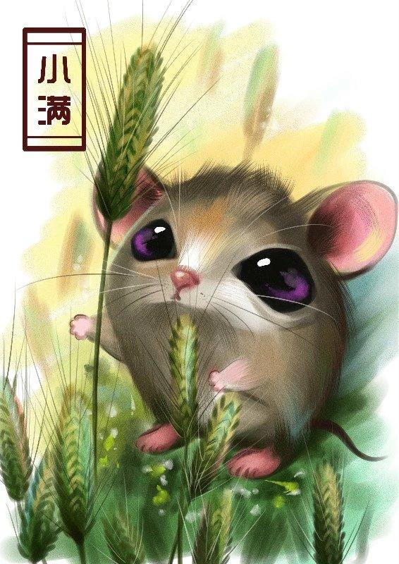 节气动物涂鸦