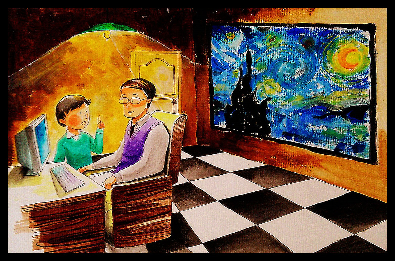 星空|插画|儿童插画|苏城小目 - 原创作品 - 站酷