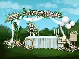 第一次手绘婚礼设计