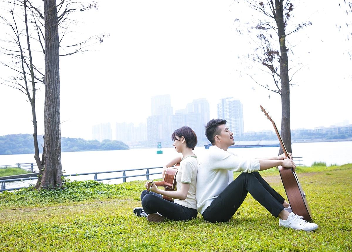 北斗-吉他校园风拍摄 吉他模特拍摄 情侣拍摄
