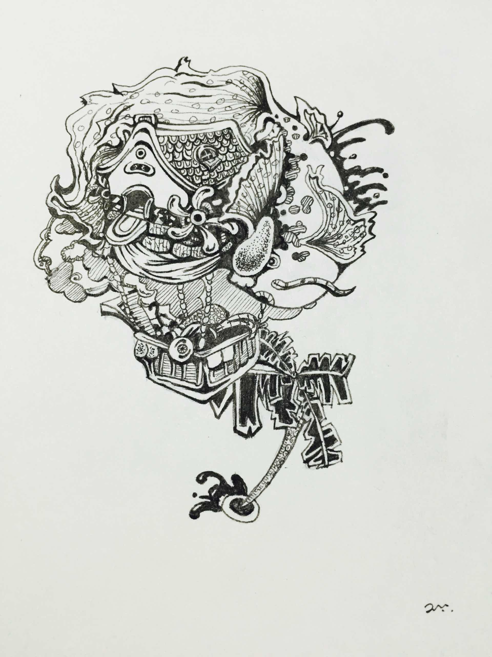 画图片大全 手绘装饰画简笔画-马克笔手绘人物装饰画|简单创意装饰画