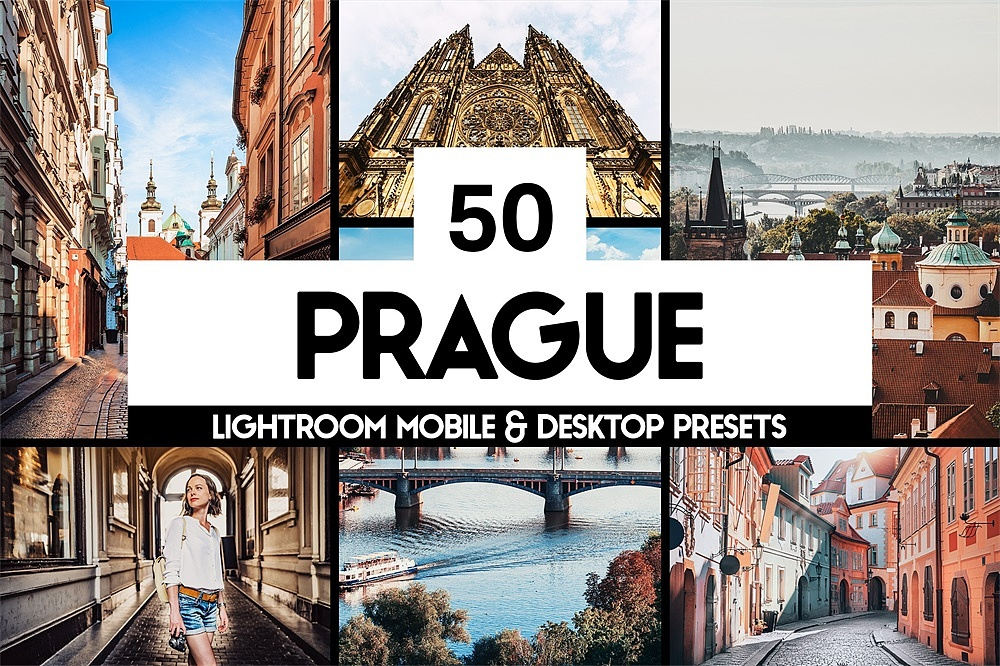 【P179】布拉格城市旅拍LR预设+LUT预设sparklestock 50 Prague Lightroom Presets and LUTs