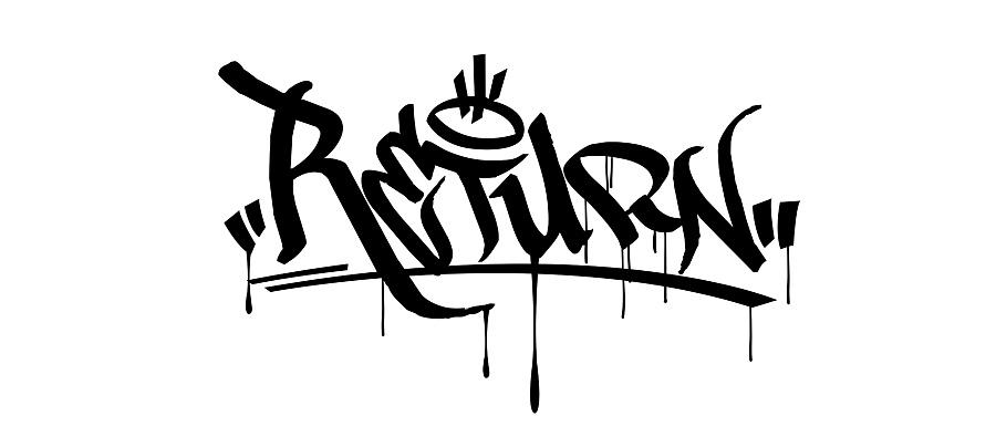 活在当下及时行乐纹身-签名 logo graffititag