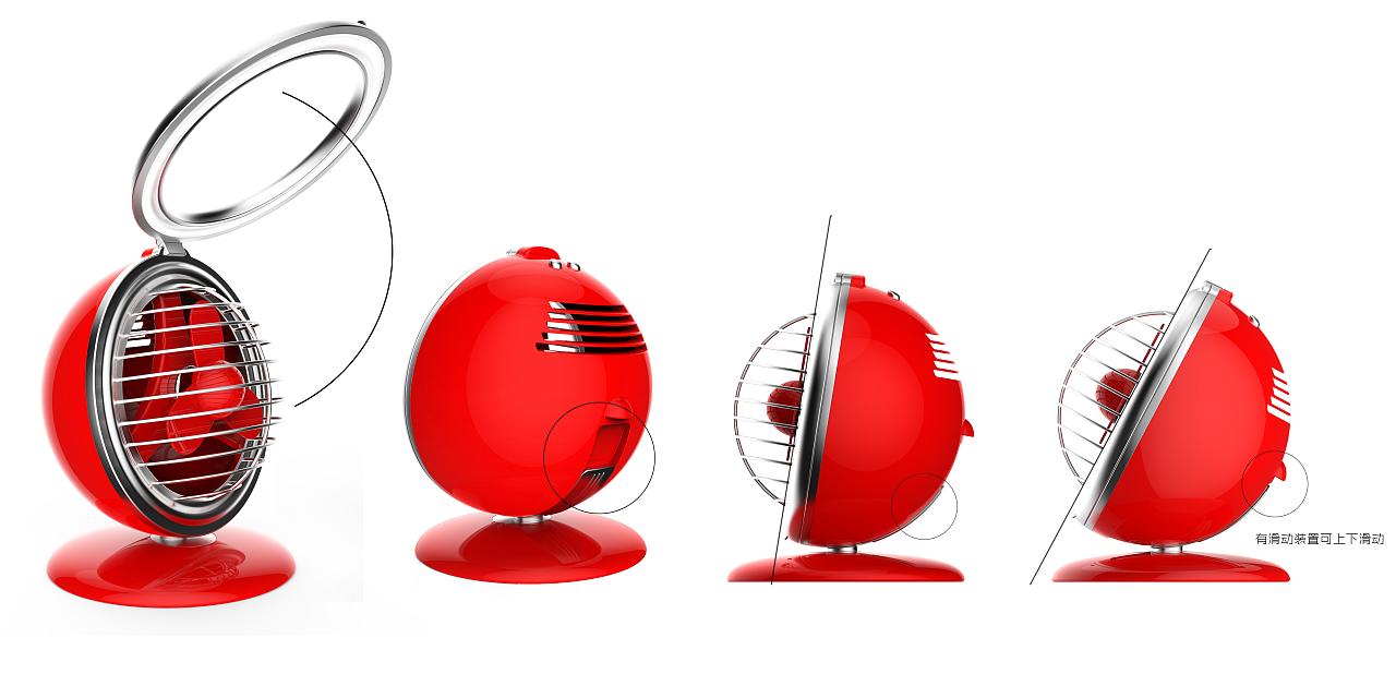 创意小风扇设计|工业/产品|电子产品|designsoso图片