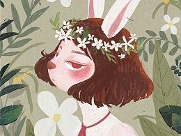森林里的她们——兔子小姐
