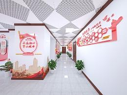 党建文化墙室内展示设计