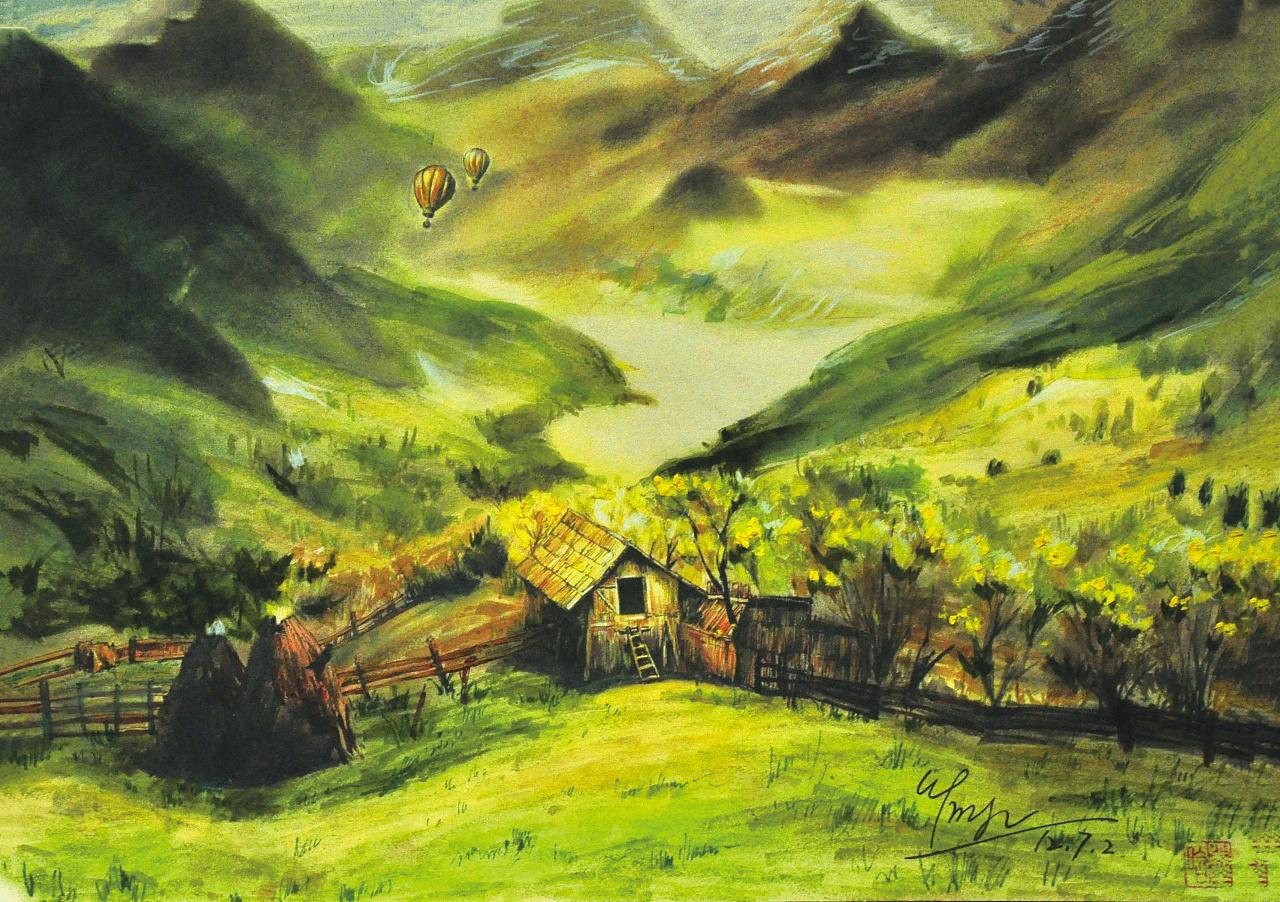 系列风景手绘