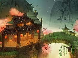 游戏项目原画设计图分享--场景篇