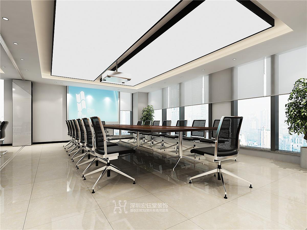地产公司办公室装修设计实景图
