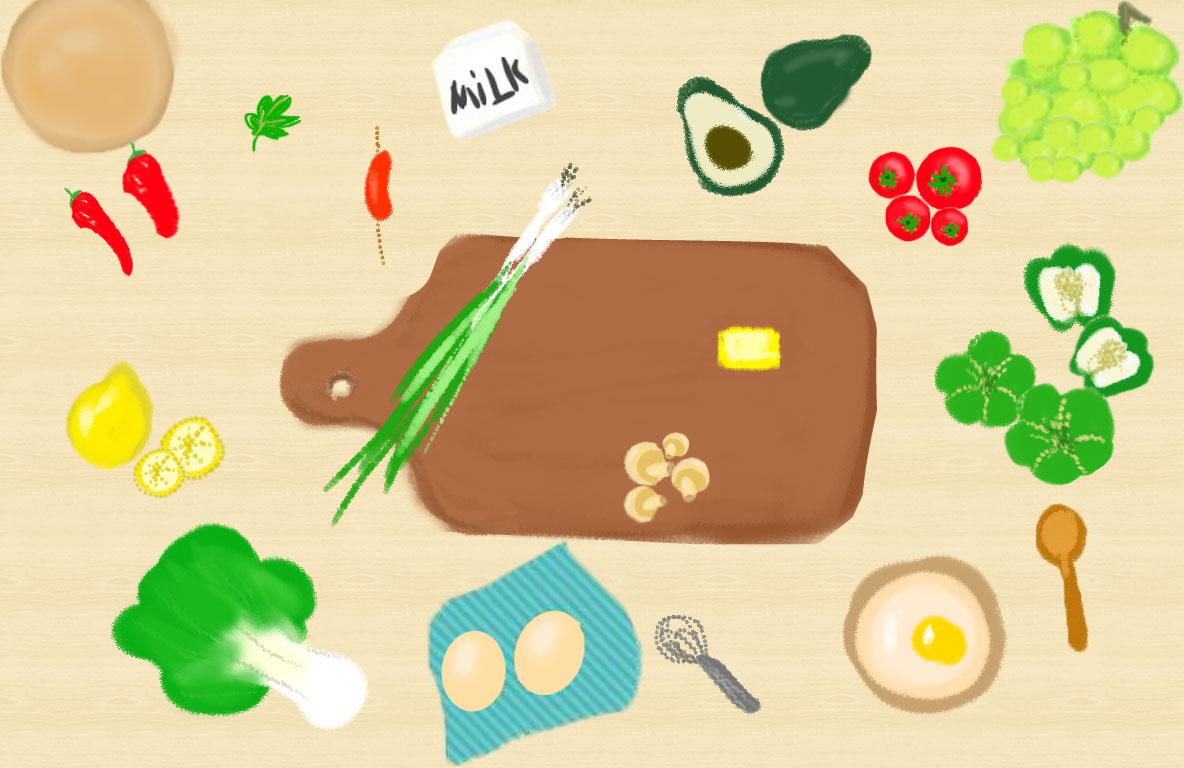 厨房卡通图片韩国恋爱漫画图片