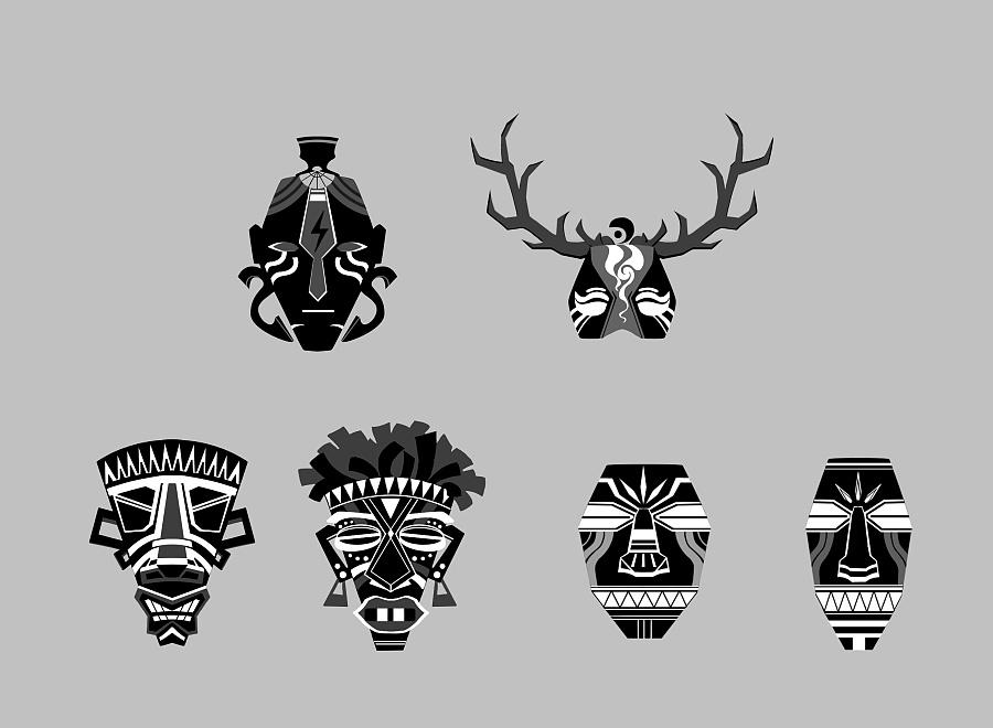 面具平面图