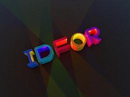3D 多彩logo设计