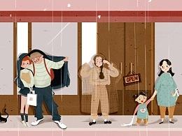 【插画-板绘】想念二中门口的文具店