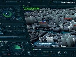 FUI-数据可视化看板概念稿