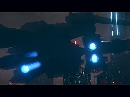 Octane scatter 夜景科幻城市