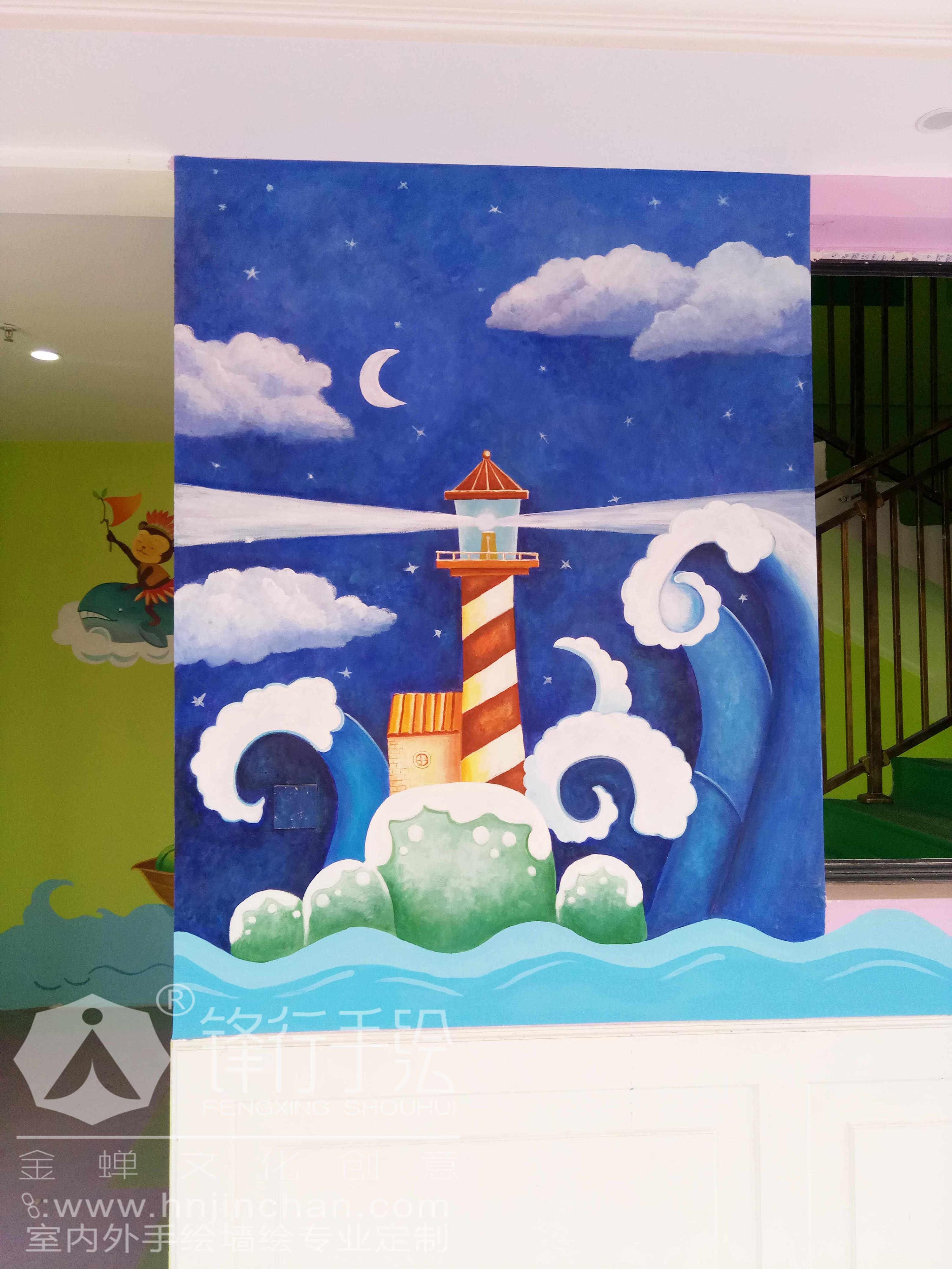 幼儿园主题手绘墙 怀化锋行手绘