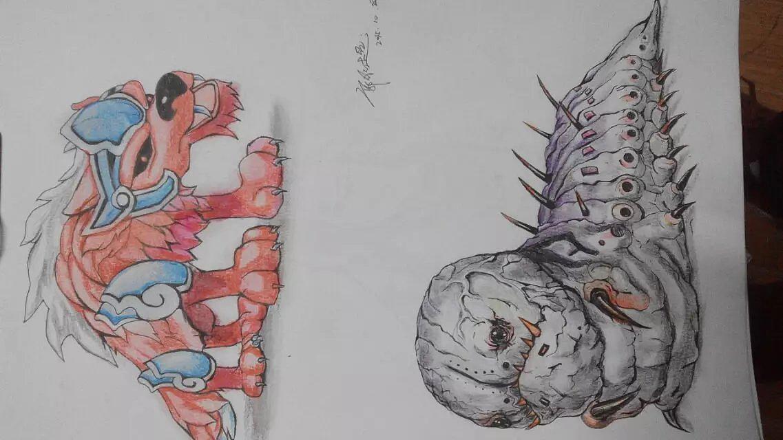 游戏动漫人物怪物设计手绘 哈尔滨师范大学美术