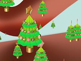 圣诞树主题Christmas tree 圣诞装饰素材