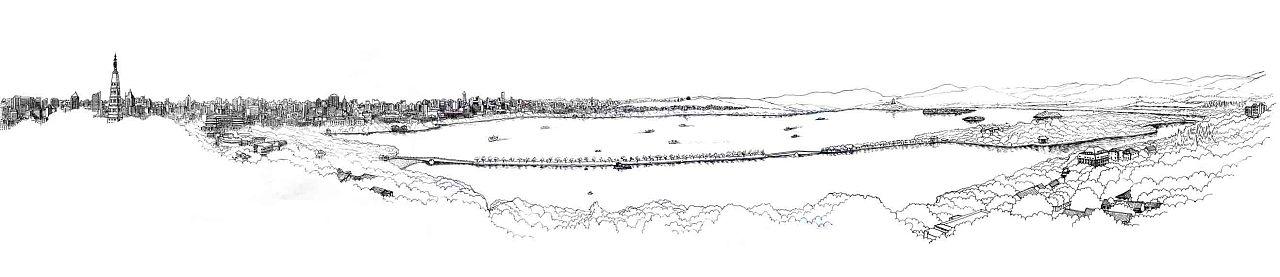 手绘一个杭州的美梦(一) 插画 插画习作 潜杭者图片