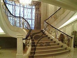 旋转楼梯铝板雕花楼梯护栏家装专属打造定制