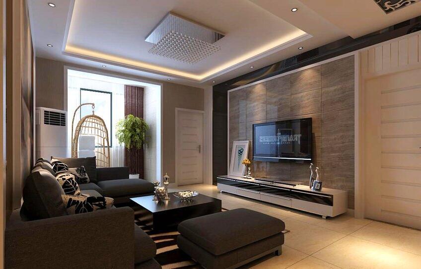 中基乐湾装修效果图115平现代简约风格三室两厅设计