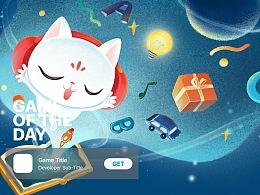 喜猫儿app苹果today推荐页插画设计