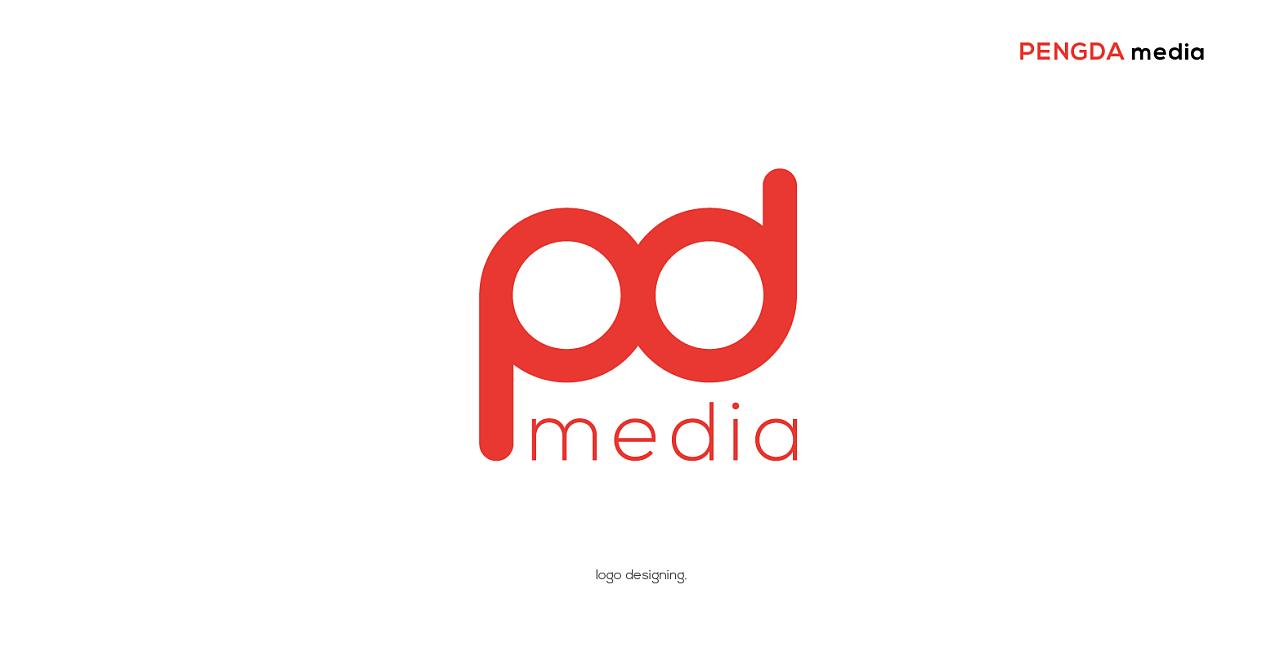 logo design/朋达 media图片