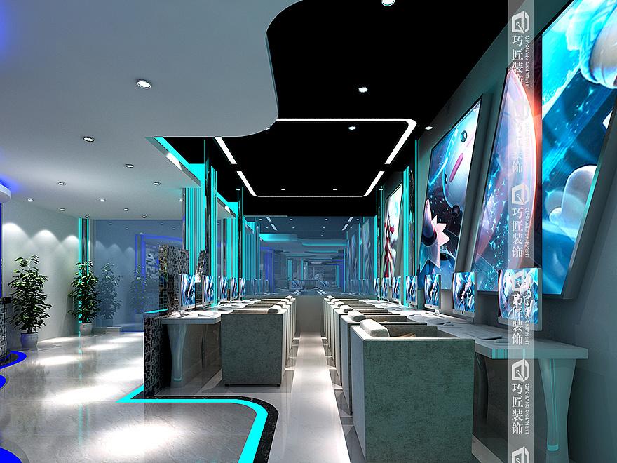 2017年昆明网咖装修设计效果图/网吧装饰施工公司云南