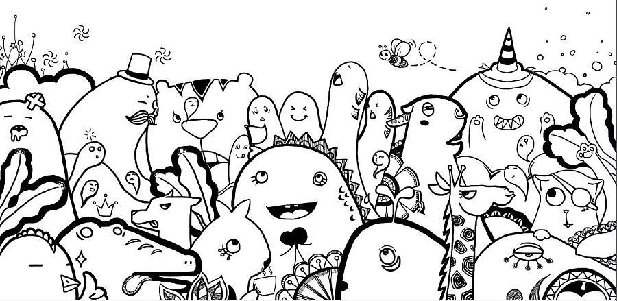 小怪兽涂鸦