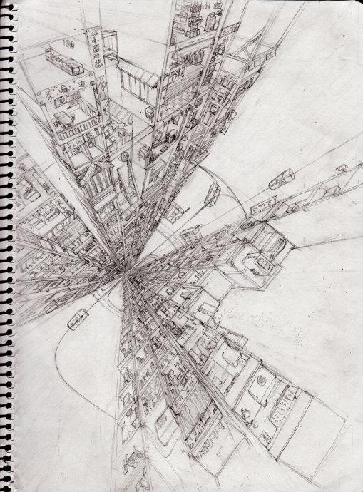 铅笔手绘稿