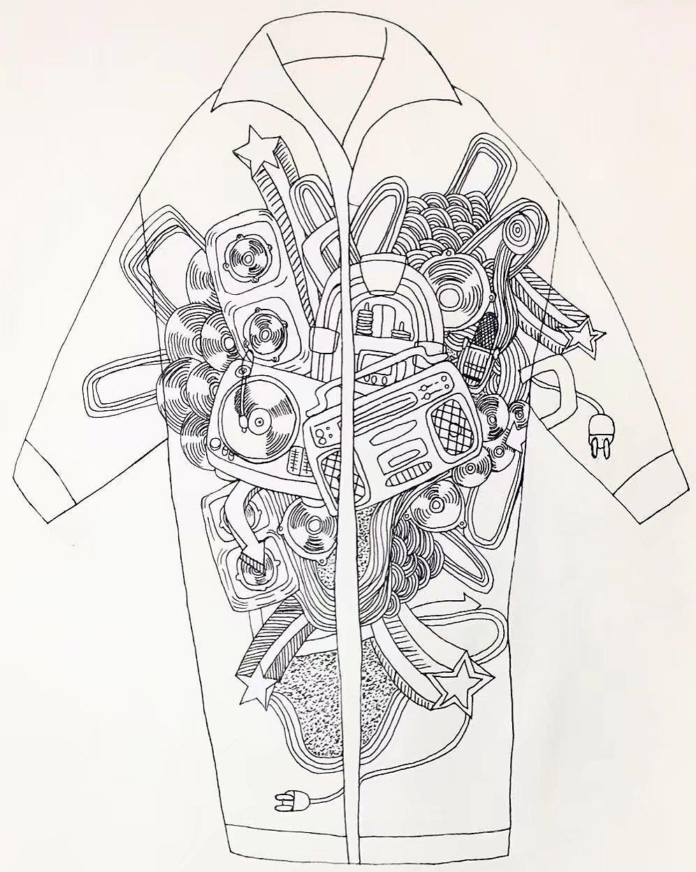 手绘衣服图案 设计图展示