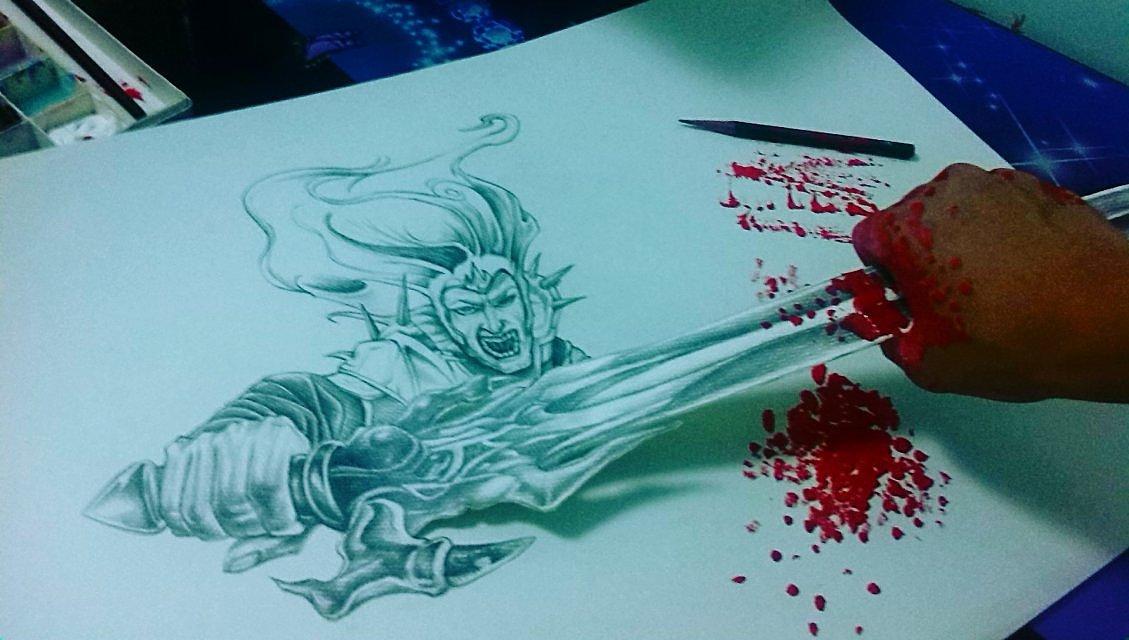 铅笔3d绘画|其他|墙绘/立体画|kgf峰丶 - 原创作品图片