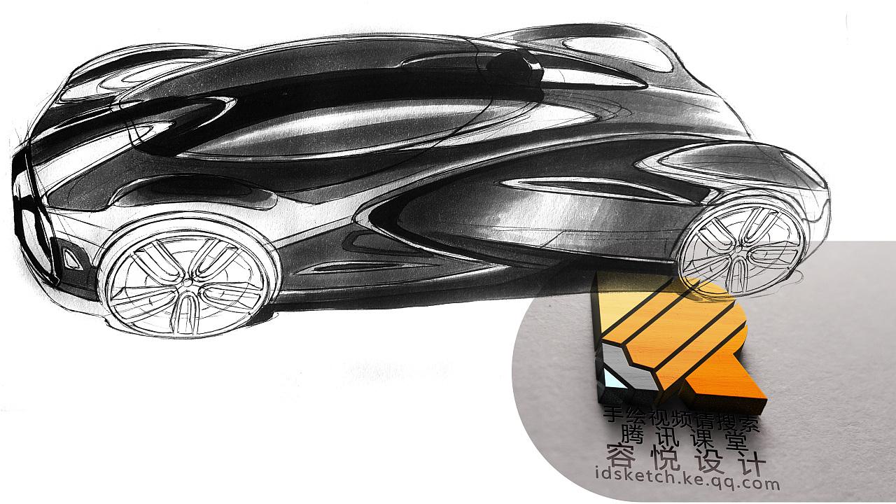 汽车设计手绘表现05——工业设计产品设计图片