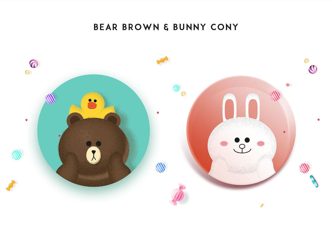 布朗熊和可妮兔