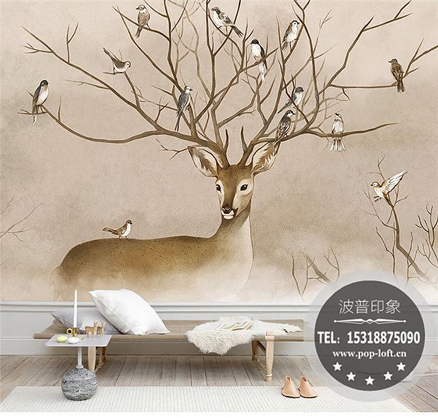 家装客厅手绘背景墙-家装卧室背景墙