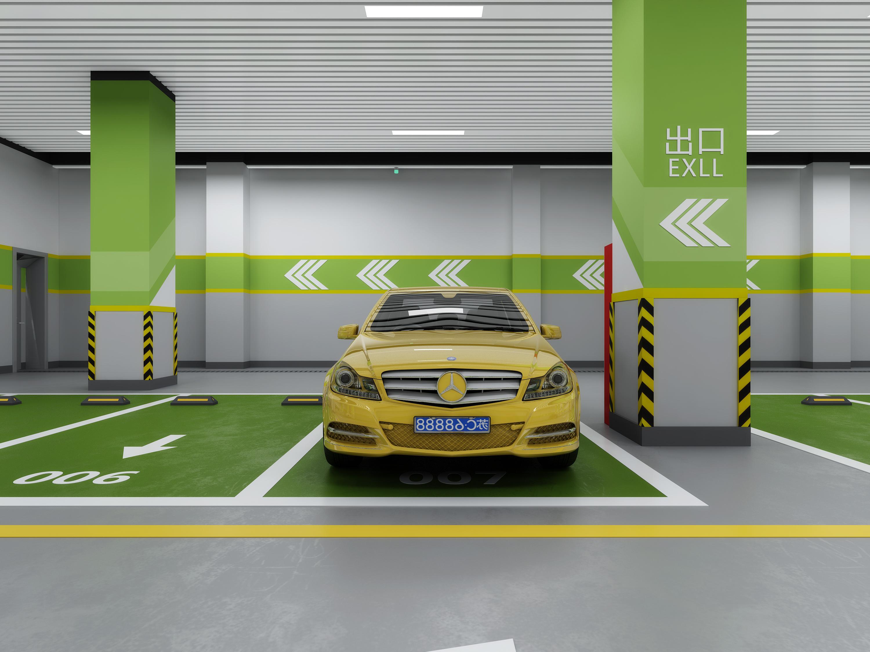 1992效果图~地下停车场|空间|室内设计|1992效果图图片