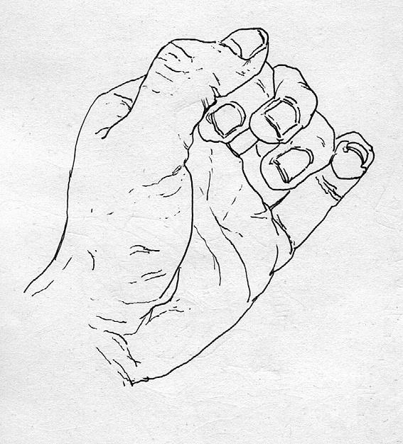 情侣背对背钢笔手绘