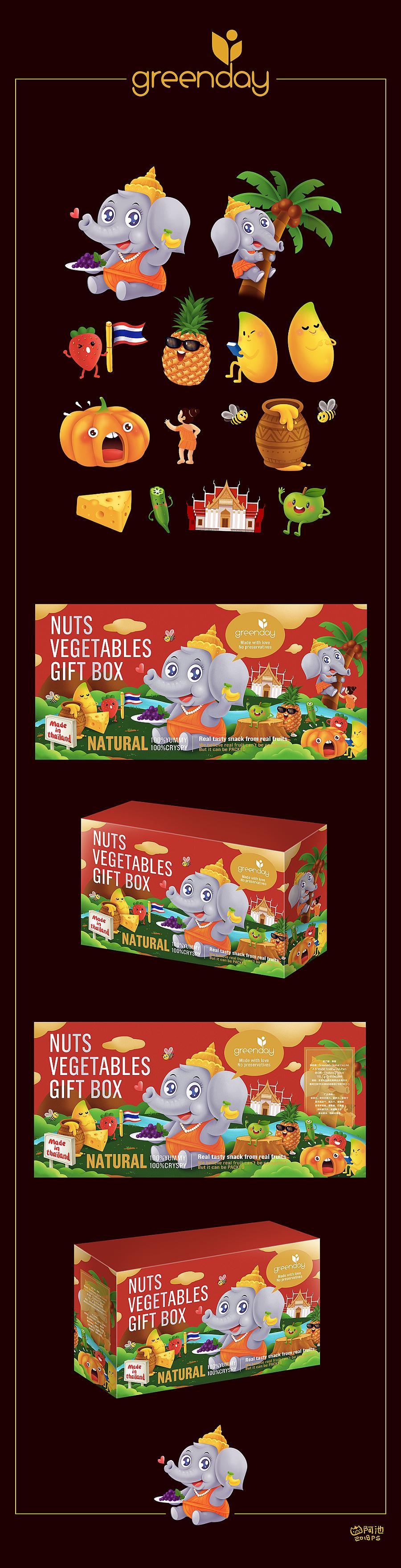 查看《泰象包装插画了》原图,原图尺寸:1000x3906