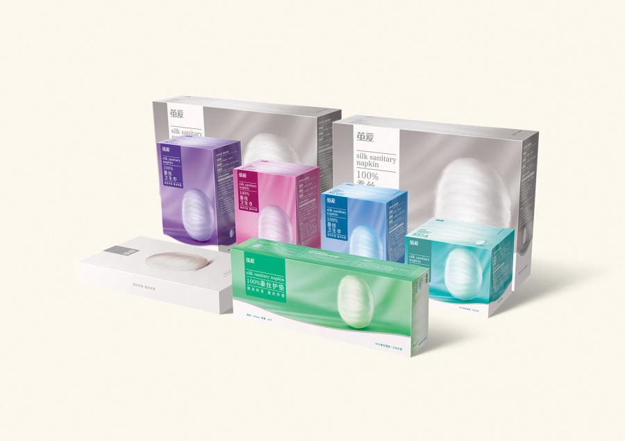 茧爱-品牌卫生巾包装设计|包装|标志|排沙平面设设计小班班级蚕丝图片