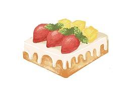 【野马设计】插画设计教程:美食蛋糕插画制作