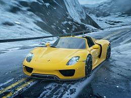 Porsche918 Rendering