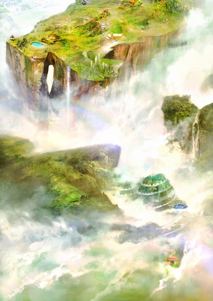 张家界手绘地图(不全的过程)tianmen mountain (china