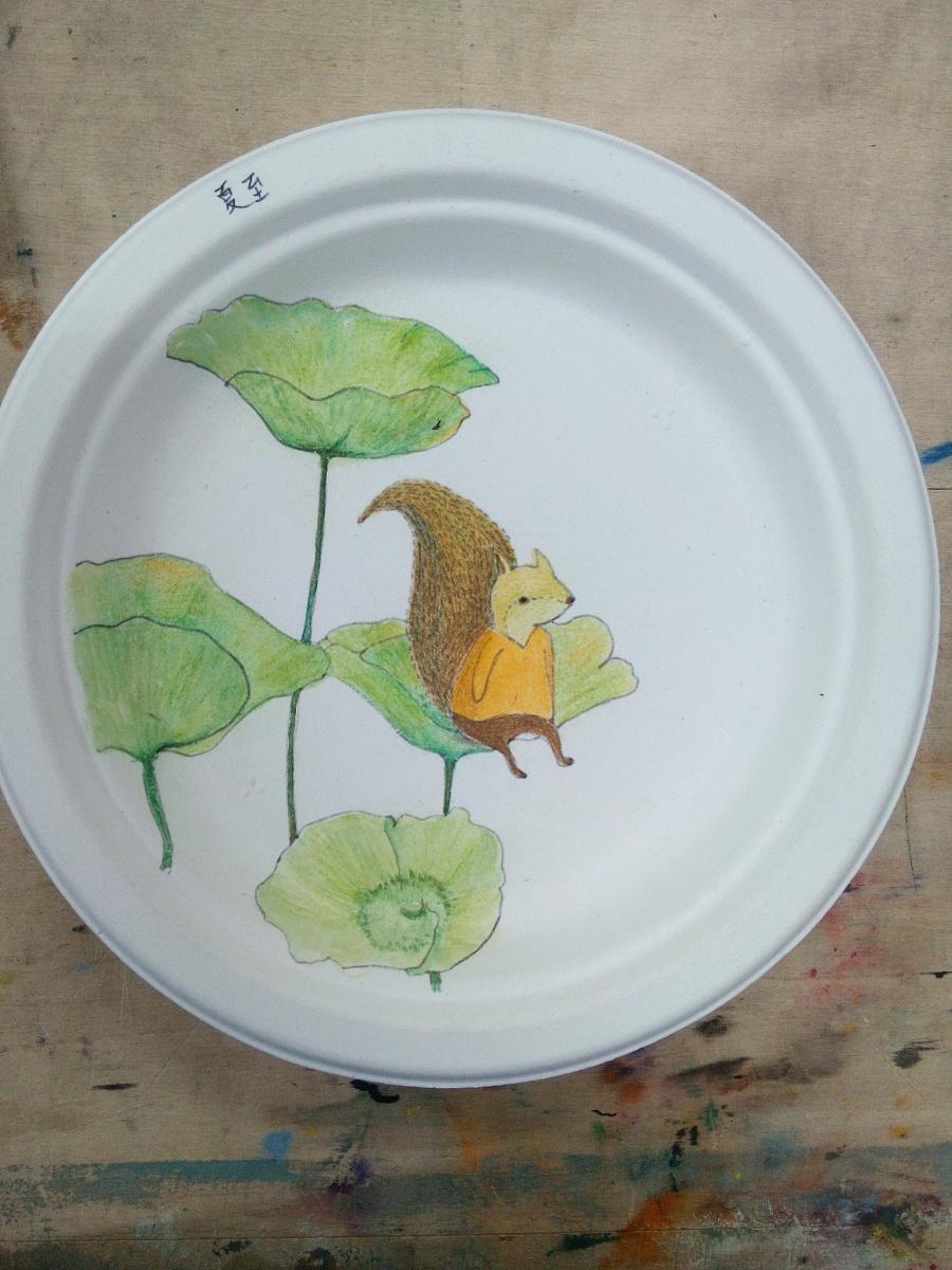 原创作品:手绘盘子,24节气