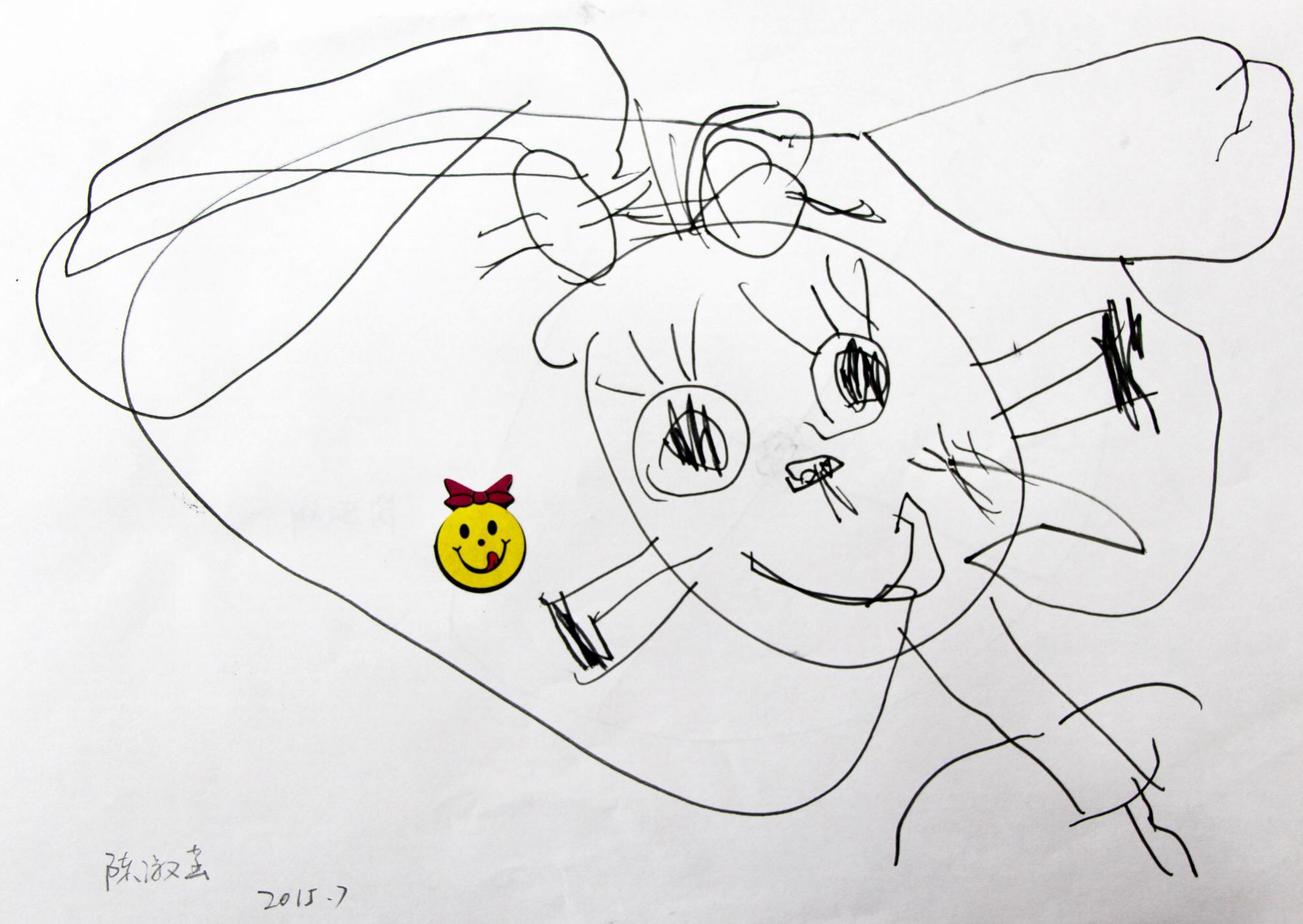 三岁半到四岁小孩的绘画成长记录——一步一个脚印走下去图片