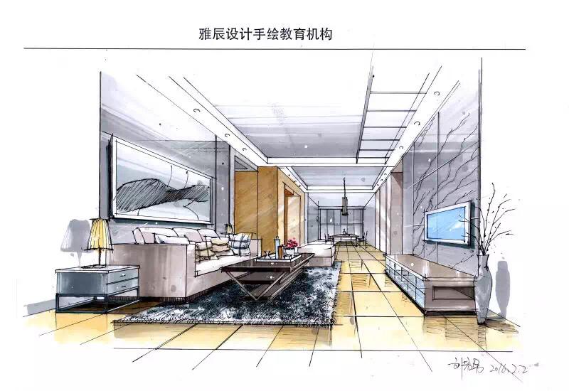 手绘表现效果图,|室内设计|空间/建筑|tyj毕下